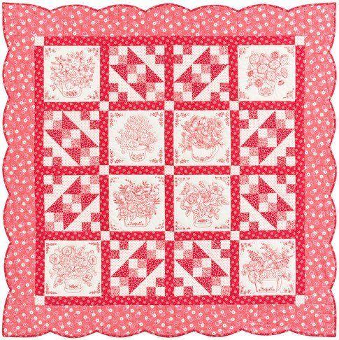 Love in Bloom Quilt ♥ Free Digital Pattern by Darlene Zimmerman