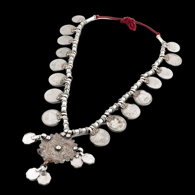 India | Tribal coin necklace from Karnataka. Worn by the Lambadi tribeswomen of South India. | ca. 1980s | 160£