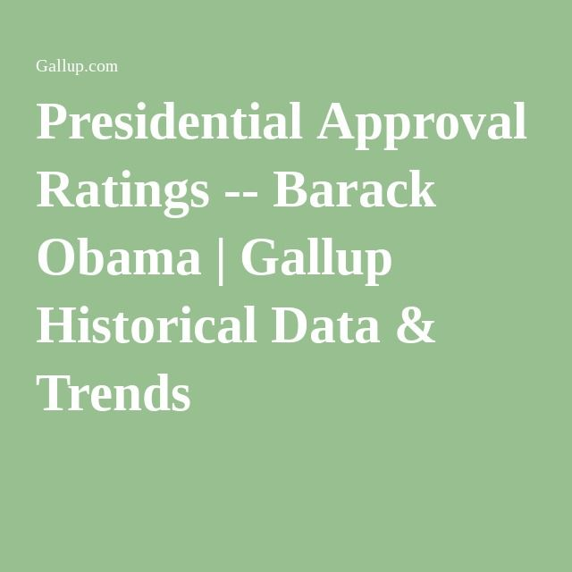 Presidential Approval Ratings -- Barack Obama | Gallup Historical Data & Trends