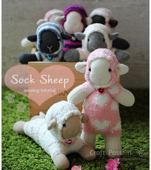 Sock lamb sheep sewing pattern. #lamb #sheep