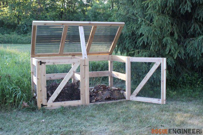 DIY Double Compost Bin Plans - Rogue Engineer