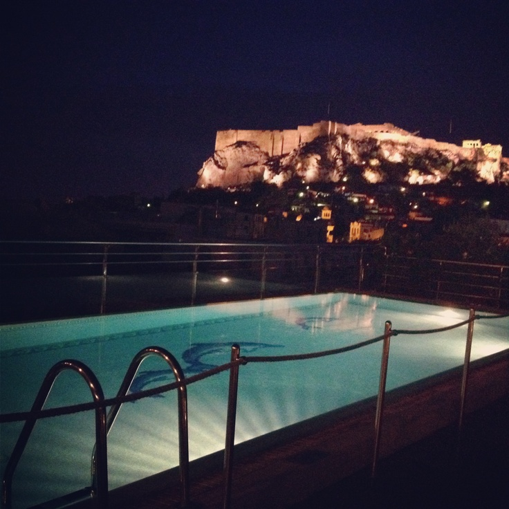 <3 roof top pool at Electra Palace Hotel- Athens - Greece
