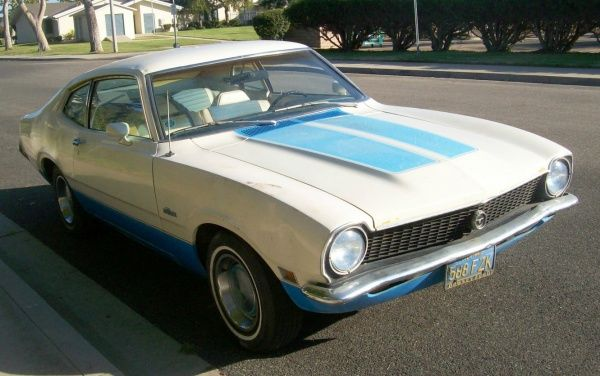 Red White & Blue Plate: 1972 Ford Maverick Sprint - http://www.barnfinds.com/red-white-blue-plate-1972-ford-maverick-sprint/