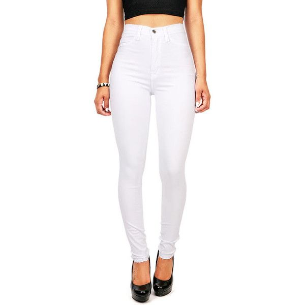 1000  ideas about White High Waisted Jeans on Pinterest | White