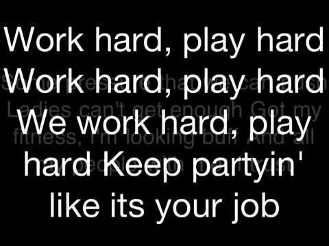 """""""Play Hard"""" """"David Guetta"""" LYRICS ft. Ne-yo & Akon"""