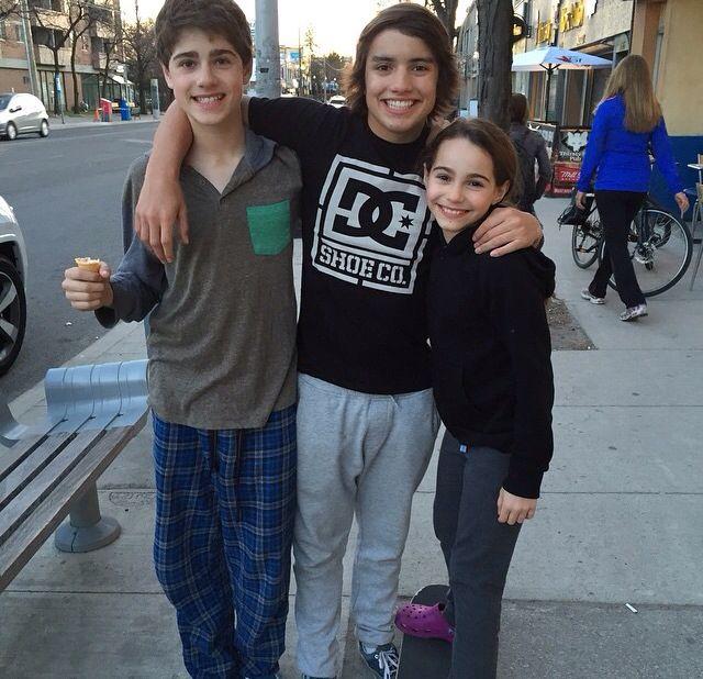 Jonny Gray with Jake Gooodman and Jake's sister Tess