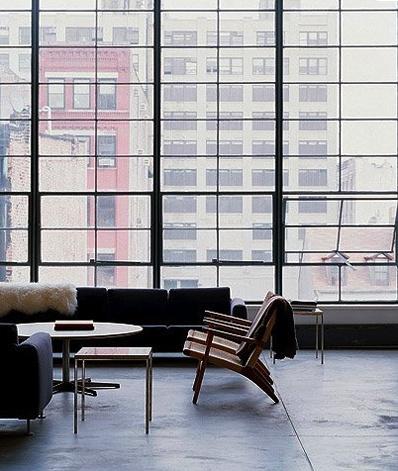 : Big Window, Spaces, Floors, Chairs, Interiors Design, Hotels Interiors, Steel Window, Urban Loft, Cities Living