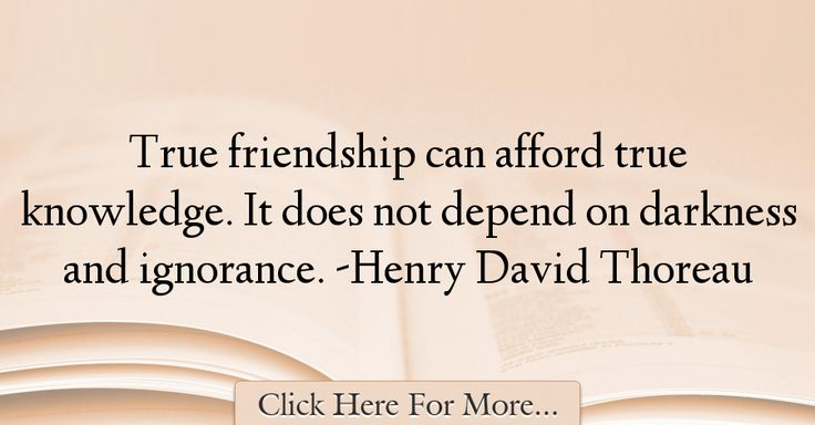 Henry David Thoreau Quotes About Friendship - 25270