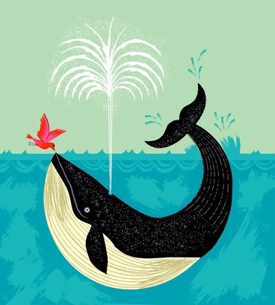 The Bird and The Whale by Oliver Lake - I like this for a kid's room print....