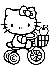 Hello Kitty coluoring pages
