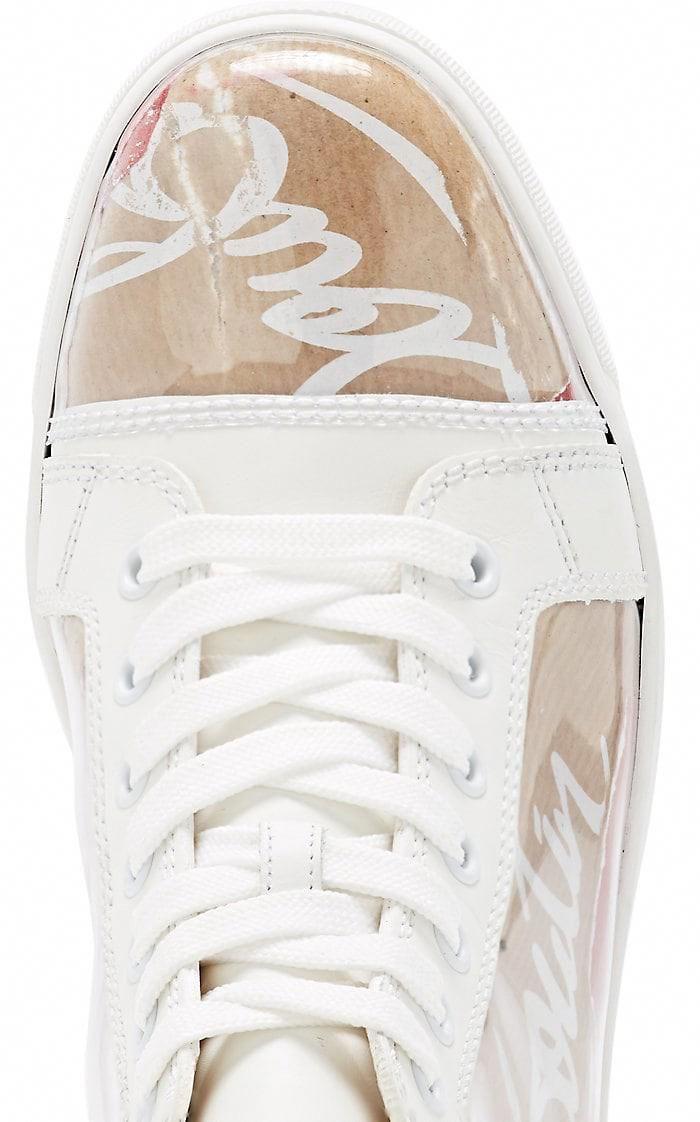 new arrival c7757 e7e36 Christian Louboutin Louis Woman Flat Pvc Sneakers - 11 Red ...