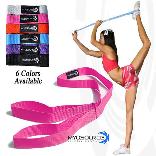 Flexibility & Stunt Strap helps cheerleaders, dancers, and gymnasts increase flexibility; helps perfect cheerleading stunts like the heel stretch and scorpion.