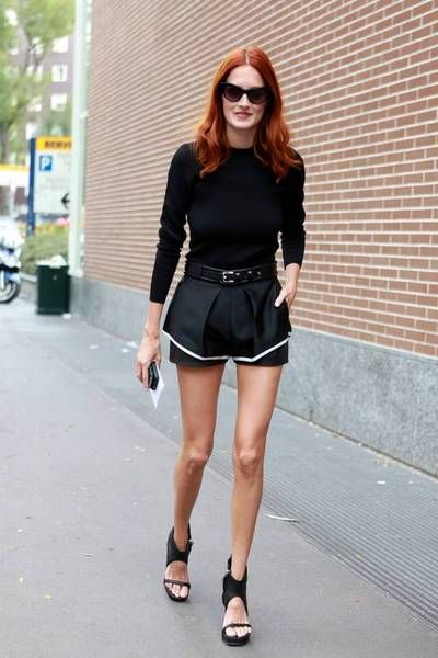Taylor Tomasi Hill in summer shorts #netaporter