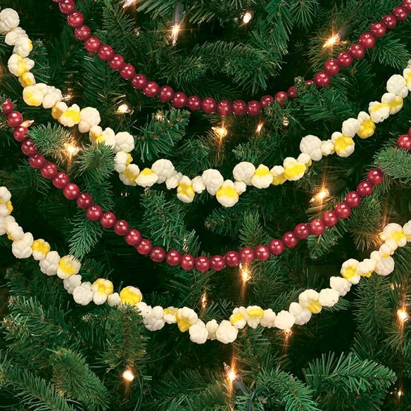 The 25 best popcorn garland ideas on pinterest for Artificial cranberries for decoration