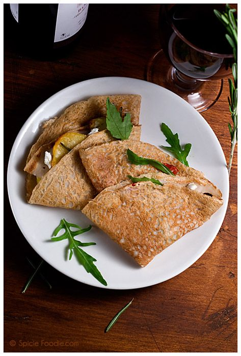 How To Make Buckwheat Crepes &  Roasted Vegetable Stuffed Crepes Recipe