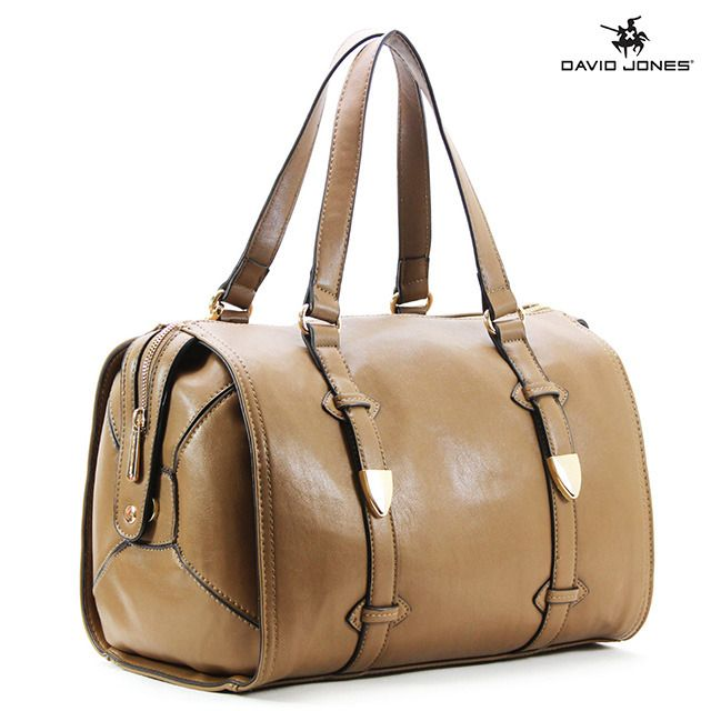 David Jones Medecin Espoir Satchel Tote in Taupe Whether you