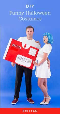 Save this to get DIY funny Halloween costume inspiration for couples, groups + more.
