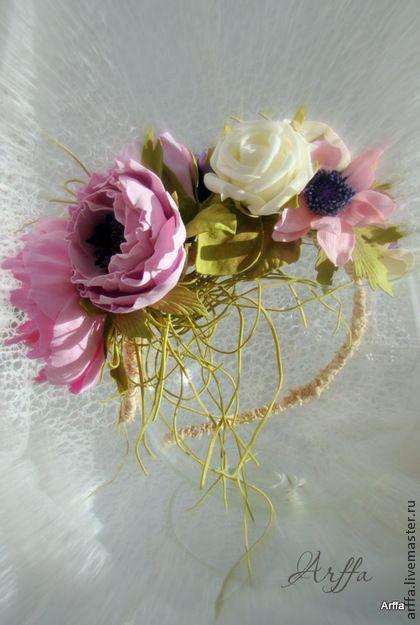 Ободок - ободок для волос,ободок с цветком,ободок для девушки,цветы из фоамирана