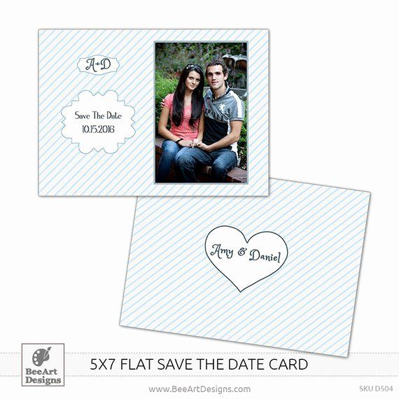5x7 Postcard Template Photoshop Best Of Instant Download 5x7 Save The Date Fl Postcard Template Free Wedding Invitation Templates Free Printable Card Templates