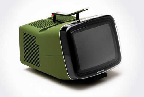 Another angle of the Brionvega Algol TV by Richard Sapper & Marco Zanuso.