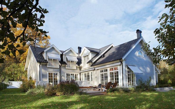 """Se fler bilder ifrån huset     New England hus A2140  """"Precis som i New England"""