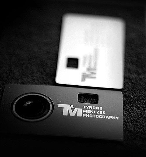 photographers business card - die cut to be like a camera viewfinder