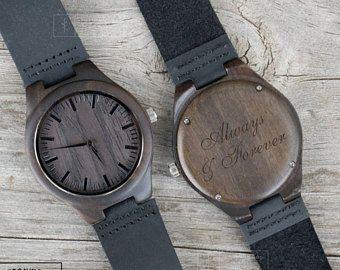 Madera madera reloj, personalizado grabado madera reloj de madera, regalos de padrinos de boda, regalos de boda, regalos de aniversario, regalos día del padre