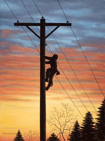Electric Blue Wallpaper Hd Electrical Lineman Mountain Electric Cooperative