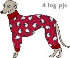greyhound 4 leg pyjamas