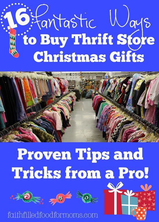 Have you ever heard of buying Thrift Store Christmas Gifts? It's a reasonable way to gather a few gifts from the heart. Re purpose, craft and be original!