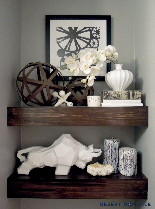 Best Bathroom Shelf Decor Ideas On Pinterest Half Bath Decor