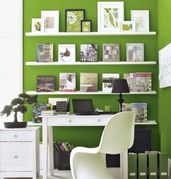 Home Offices With Incredible Color Pairings
