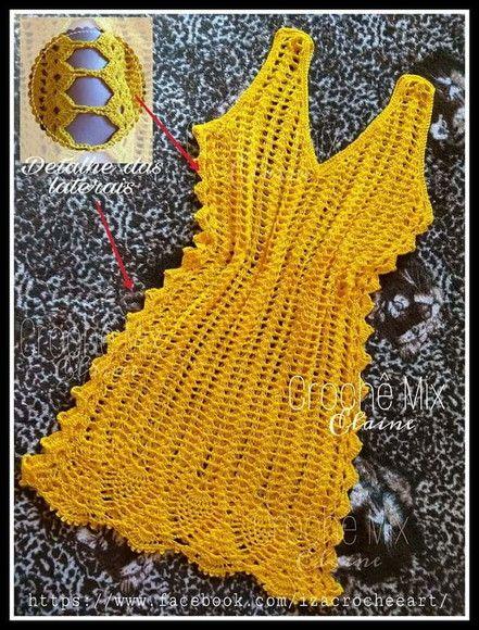27b53fae94 Compre Saída de praia ou vestido (lateral vazada) no Elo7 por R  169 ...