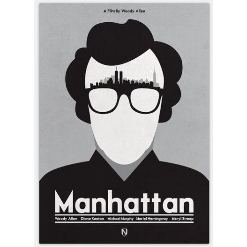 Affiche de cinéma revisitée par Matt Needle  Manhattan de Woody Allen format 42cm x 29.7cm Tarif 30 euros
