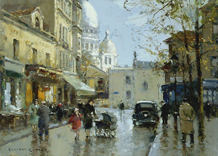 Place from a knoll Montmartre - Edouard Cortes ...........#GT