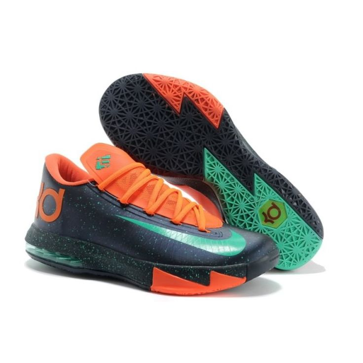 Buy New Nike Zoom KD 6 Navy orange Mens 599424 500 Basketball Shoes Shop