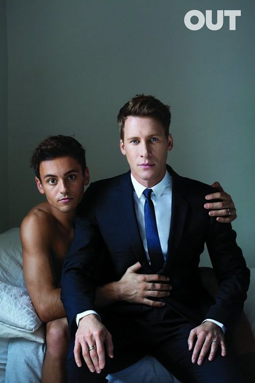Tom Daley Shirtless | OUT Love Issue | Dustin Lance Black | homorazzi.com