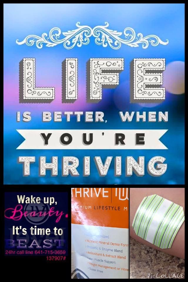 I Feel Great! THRIVE by LeVel can change your life!!!! More energy, weight management, immune support, joint support, sound sleep, mental clarity and more!!! Sign up at http://akoelzer.Le-Vel.com