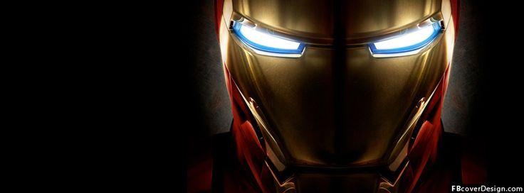 Iron Man Helmet Facebook Covers | FBcoverdesign.com