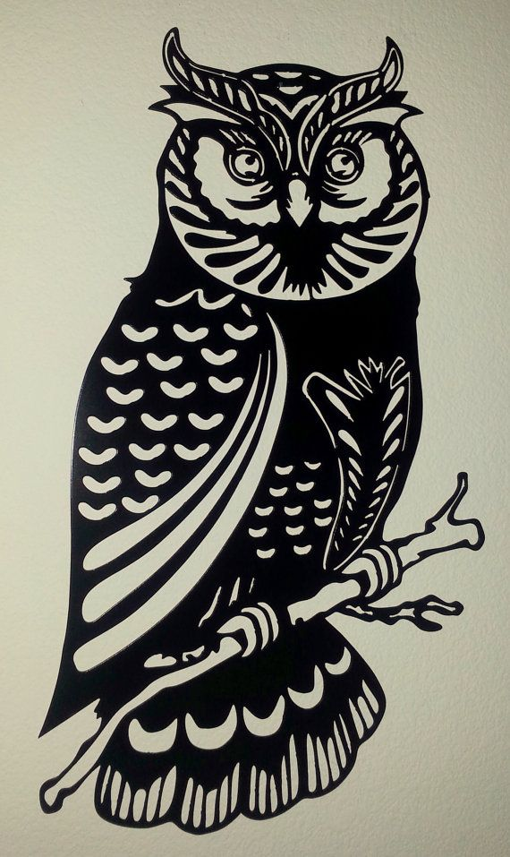 Owl Metal Wall Art by BCMetalCraft on Etsy
