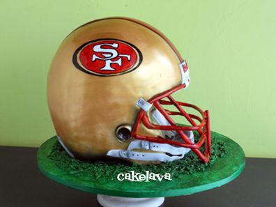 cakelava: San Francisco 49'ers Football Helmet Cake