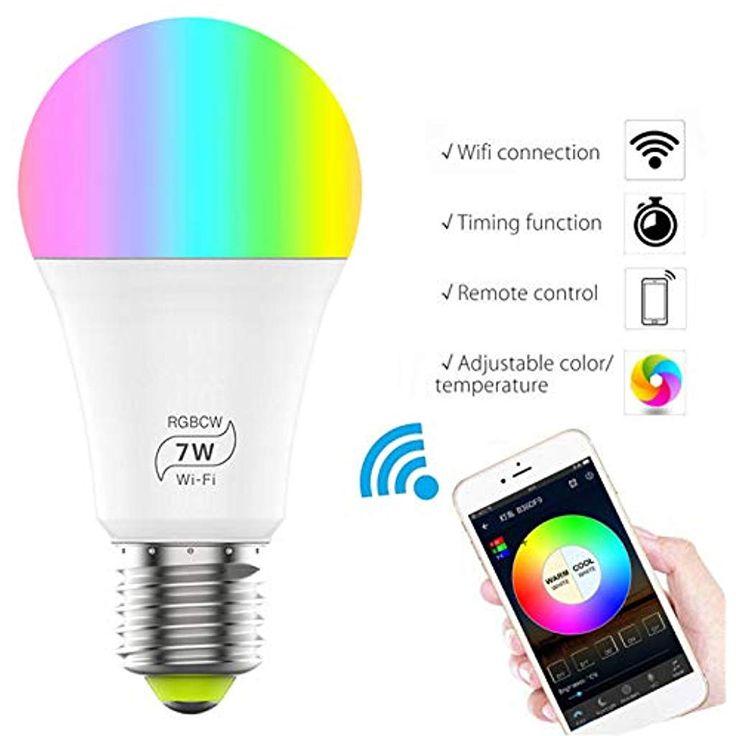Awfand E27 WiFi Smart Bulb Alexa Glühbirnen 7W RGBW Kompatibel mit Alexa/Google… Awfand E27 WiFi Smart Bulb Alexa Glühbirnen 7W RGBW Kompatibel mit Alexa/Google Home Farbe Dimmbar Sprache Fernbedienung per App Kein Hub erforderlich 4 Stück <a class=