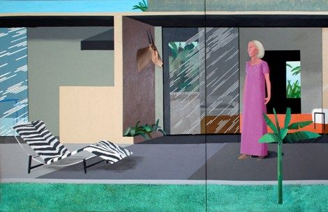 David Hockney, A Beverly HIlls Housewife, 1966