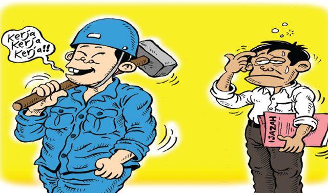Mice Cartoon: Kerja... Kerja... Kerja... - Karya: Muhammad Misrad - Sumber: Rakyat Merdeka - 27 Desember 2016