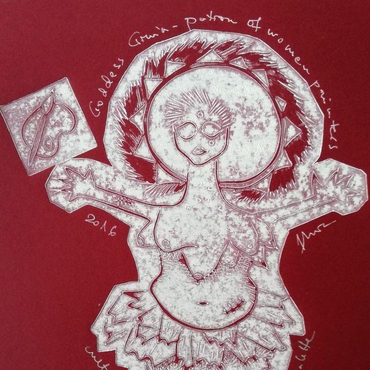 Goddess Gruia patron of female painters!