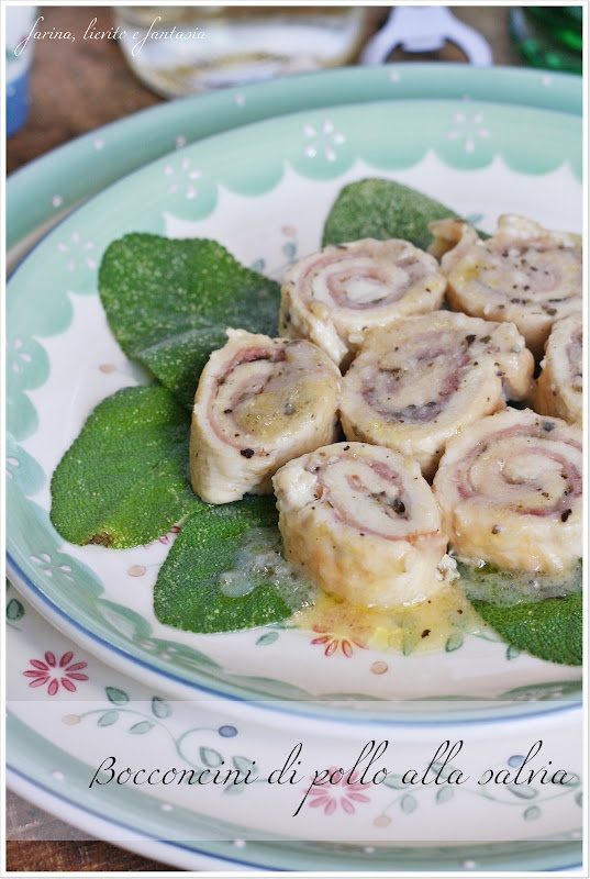 Morsels of chicken with sage - Bocconcini di pollo alla salvia | Farina lievito e fantasia
