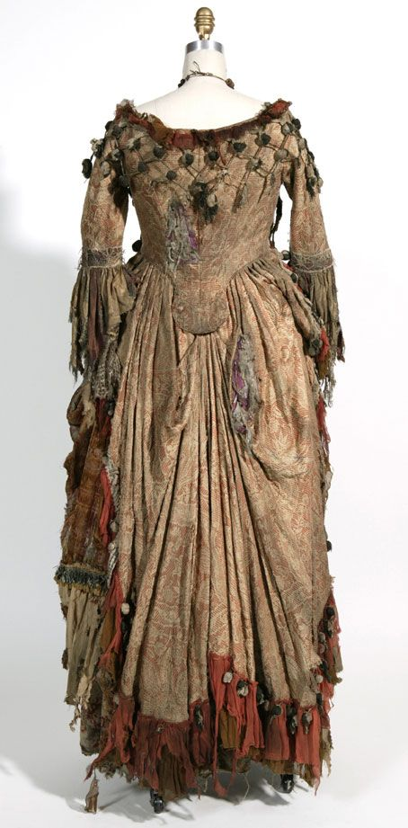 Tia Dalma's / Calypso's costume from 'Pirates Of The Caribbean'. Back view.