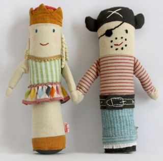 Pirate and Princess Baby Rattles - Arrr!