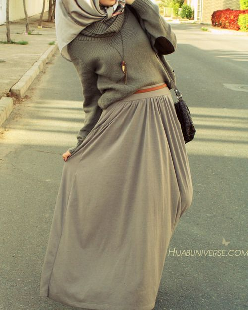 eliffoundherway: Elbow patch sweater | Hijabuniverse.com auf We Heart It - http://weheartit.com/entry/109709890