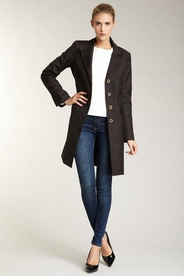 Debbie Shuchat Long Slim Coat with Decorative Darts by Outerwear Over $50 on @HauteLook
